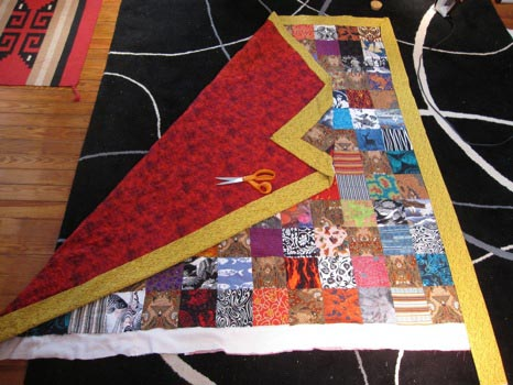 Post/Carrow quilt in progress