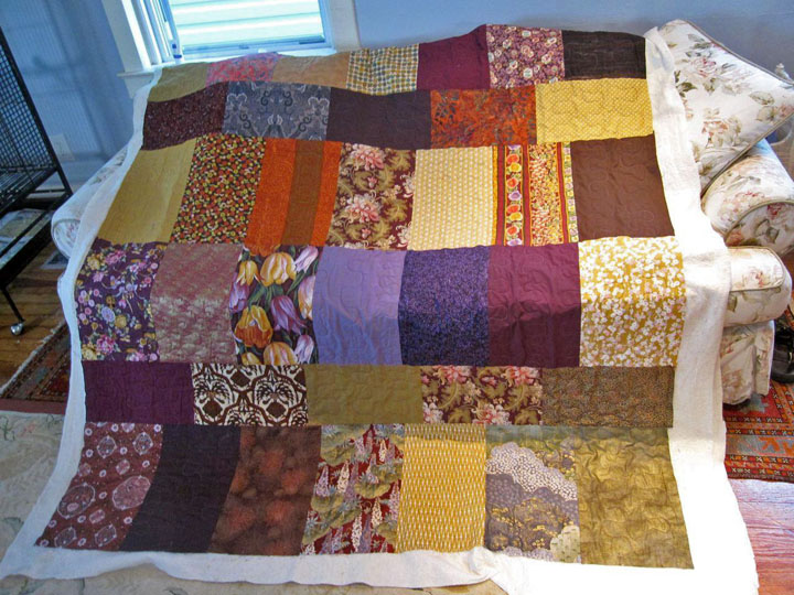 Reverse side of Harriet's quilt